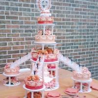 Orange Quinceanera All whipped icing with two shades of orange satin ribbon.