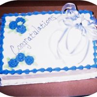 Congratulations  Sorry about the pic, I know it's not the best. This was a last minute cake in which I only had less than 6 hours to do, including...