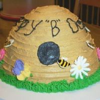 Beehive B-Day   Bee hive Birthday cake. Inspired by saltystella. Cinnamon swirl cake with cinnamon buttercream.
