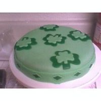 St. Patty's Day Cake... This is my first cake ever done...Didn't take any classes...I'm quite proud of myself...It's not Wilton fondant...But a...
