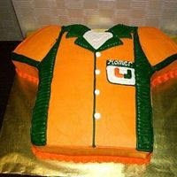Bowling Shirt Grooms Cake  This was a groom's cake for a groom who loves bowling, the Simpsons (notice the name Homer on the pocket) and the University of Miami...