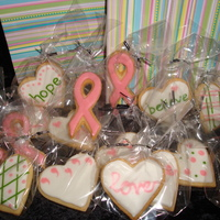 Breast Cancer Care Pack Cookies for a friend of my Mom's who is just starting her battle.