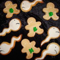 Vasectomy Cookies Cookies for a friend who got the big snip recently.