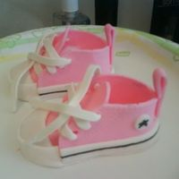 Converses made with gum paste. I got the template off of this site.