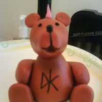 Punk Bear For Baby Shower made with fondant