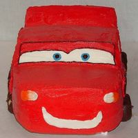 Lightning Mcqueen Made this 3-D Lightning McQueen for DS 4th birthday. I painted piping gel on his headlights cause as you know he has stickers not '...