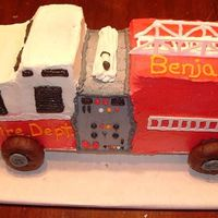 3-D Firetruck I used my son's firetruck as my pattern. The hoses (there is one on the other side) and ladders were made out of Royal Icing. The...