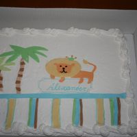 King Of The Jungle this was a store bought cake covered in buttercream. I made the decorations in fondant.