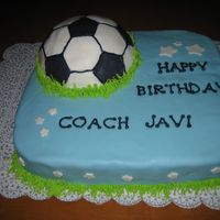 Soccer Ball inspiration drawn from many similar cakes on this site / all mmf