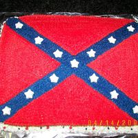 Rebel Flag I call this my redneck cake! I made it for a boy who just turned 16. The stars are done out of white chocolate candy.