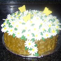 Daisy Basket I made this cake for an elderly lady's birthday. Her two favorite things are sweets and flowers. This was my first time to ever make...