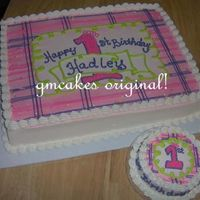 1St Birthday Plaid