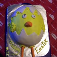Easter Chick This was a last minute Easter cake thanks to everyone for the ideas
