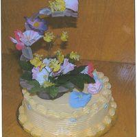 Mothers_Day_Cake.jpg This was a white cake with whip cream with fresh strawberries. I made this cake for my mother on Mother's Day. Flowers: some are silk...