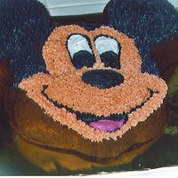 Mickey Choc. cake with buttercream frosting.