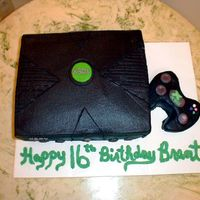 Xbox Cake For a boy turning 16. Warned them about the black icing and stains. It is only about 1/2 of an inch off the correct dimensions for the real...