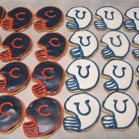 Superbowl Cookies Bears vs. Colts superbowl cookies