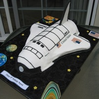 Space Shuttle Iced in buttercream