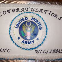 Promotion   Promotion cake for the military