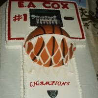 Basketball Cake Yellow cake/BC filling. All BC with edible images and fondand details.I used Sharon's BC technique and I think I did pretty good for...