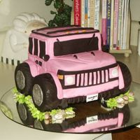 Hummer B-Day Cake This is the cake I made myself for my B-day. I been asking my DH for a Hummer but he won't buy me one, so I dicided to get me one for...