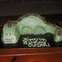 Dinosaur Cake For my son's 4th birthday...he's really into dinosaurd right now :)