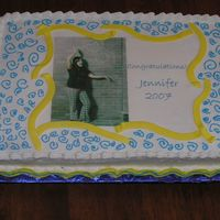 Jens Cake I made this for one of my employee's graduation. She is fun and colorful, so I thought I would make this cake a little fun.