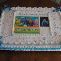 1St Birthday Cake this was my 1st time using my new edible image printer!!! Woo-hoo...I love it!!!