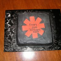 Chris's Cake This was for my good friend Christ who turned 30. He LOVES the band the red hot chili peppers so I thought I would give him a cake with...
