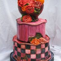Roses And Orange Everything is MMF! Practice cake for upcoming cake!
