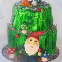 Gnome Gnome cake for my Moms bday! I never want to see this cake again!!!!! Worked on it all week, its done!!!!!!!!!!!!