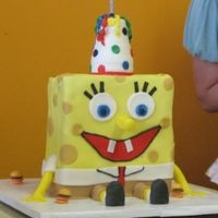 3D Spongebob My daughter's second birthday cake. Very easy to do. Maybe 2 hours front to back!