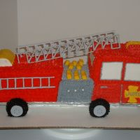 3D Fire Truck Made with the 12 x 18 sheet pan.