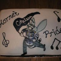 Hornet Pride Marching Band I made this cake for my sons high schoo band. FBCT for the hornet (which completely fell apart on me when I went to apply it, so please...