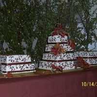 Square Wedding Cake This is my first wedding cake.