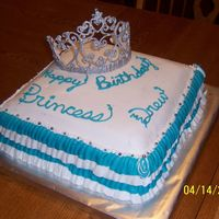 Tiara Cake I made this using a pattern I got from Cake Central (Thank You). It was very easy to make. I made two tiara's and one broke. The kids...