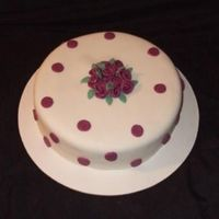 Burgundy Rose Made this for a joint Birthday for my friend and her mother. All covered in Satin Ice Fondant.