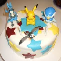 Pokemon Cake made for my Nephews 10th Bday party. DIdn't have to much time so I kept it simple.