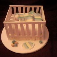 Crib I made this cake for a cake decorating contest for CCCSAS. It is tonight. Wish me luck.