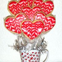 Vegan Valentine Cookies A cookie bouquet made from vegan roll-out sugar cookies and decorated with a glaze icing (vegans don't eat royal because it's...