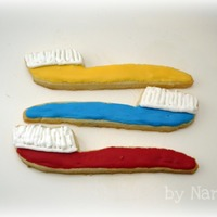 Toothbrush Cookies! Sugar cookies with royal icing. I made these for a Christmas gift for a friend who is in school for dentistry. Enjoy!