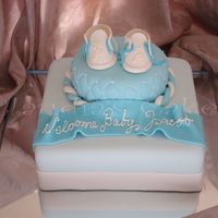 Baby Shoes fondant and gp decorations