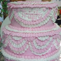First Birthday Lots Of Ruffles Cake buttercream ruffles everywhere!!