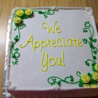 Appreciation Cake   last minute appreciation cake all bc