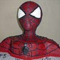Spiderman Cake I made this cake for my nephew. It was the first cake I have made in years. Thanks to CC I got inspired again. He was so happy and so was I...