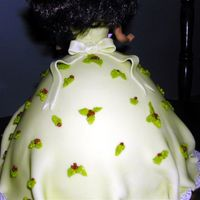 Christmas Eve Doll Cake Rear View