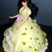 Christmas Eve Doll Cake Side View