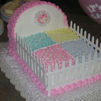 Baby Girl Crib Burbon chocolate cake and buttercream.