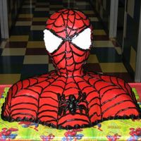 3D Spiderman The cake is a combination of chocolate bourbon cake and White almond sour cream cake, both bathed with brandy and amaretto syrup! covered...