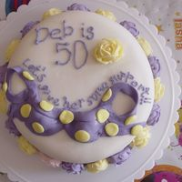 50Th Birthday - Support Cake chocolate irish creme cake covered with MMF. I saw this on the gallery here and had to do this cake for my mother!! Thanks for the great...